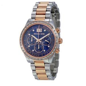 Michael Kors Brinkley Navy Dial Two-tone Watch